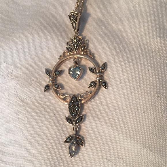 Jewelry blue topaz teardrop silver pendant necklace poshmark blue topaz teardrop silver pendant necklace aloadofball Gallery